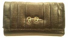 Jessica Simpson Signature BLACK Full Size Wallet ID Organizer Coin Clutch Purse