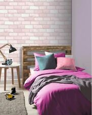 Arthouse Diamond Brick Glitter Wallpaper Pink 260005