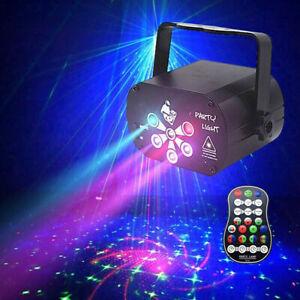 LED RGB UV Laser Stage Lights Sound Active Disco Party DJ Dance Lamp Projector