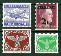 DR Nazi 3rd Reich Rare WW2 Stamp Hitler Junkers Feldpost Swastka Eagle Wehrmacht