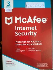 McAfee Internet Security 2020 3 Devices 1 Year Anti Virus 2020