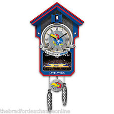 University of Kansas Jayhawks Basketball Cuckoo Clock: Bradford Exchange