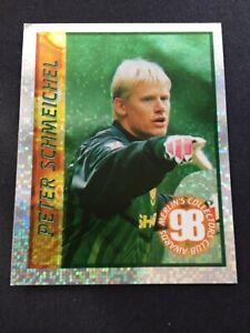 MERLIN 1998 PETER SCHMEICHEL  MANCHESTER UTD FOIL STICKER NO95