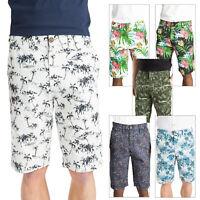 Mens Threadbare Pure Cotton Hawaiian Paisley Print Summer Chino Casual Shorts