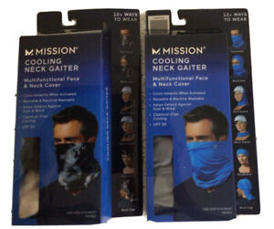 NEW SET OF 2 MISSION COOLING NECK GAITER-Sand & Cloud Quiet Shade