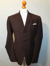 Vintage 1960's brown bespoke mod suit size 42 extra long