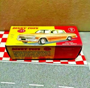 Dinky Toys 196 Holden  EJ  Sedan EMPTY Reproduction BOX ONLY NO CAR