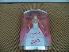Holiday Celebration 2001 Blond Barbie Doll Christmas New Year  in Box  Mattel
