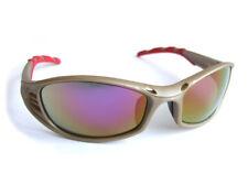 B marca Florida MTB specifiche Occhiali di Sicurezza Rosso Specchio Antiappannamento Lente COPPIA