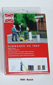 Busch Ho 7809 Action Set: Pallet Truck Finshed Model# New Boxed #