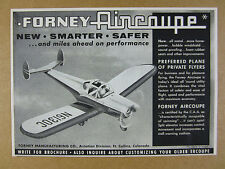 1957 Forney Aircoupe airplane illustration art vintage print Ad
