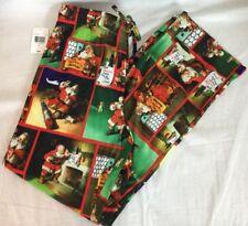 Coca Cola Santa Mens Womens Small Pajama Pants Lounge Holiday Christmas NWT