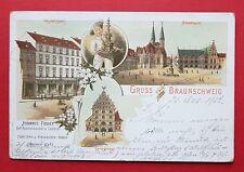 Litho AK BRAUNSCHWEIG 1901 Geschäftshaus Johannes Fischer, Gewandhaus    ( 32812