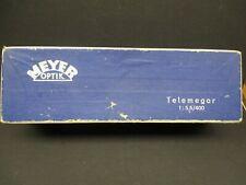 Meyer Optik Gorlitz 400mm f5.5 Telemegor Lens in Exakta Mount with box