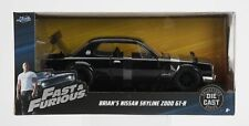 Jada Diecast Metal 1:24 Fast and Furious Brian's Nissan Skyline 2000 GT-R