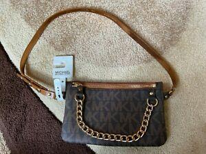 Michael Kors Brown Bum Bag Size L Ladies Girls Designer Bum Bag BNWT Gift NEW