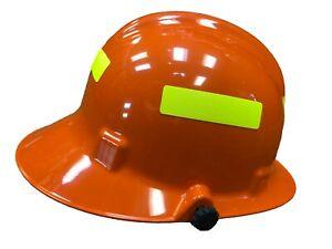 Orange Phenix First Due Fire Helmet W/ Earlaps