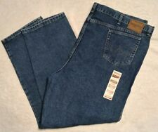 Wrangler Jeans Mens 54 x 32 Big and Tall Relaxed Fit New Medium Denim Pants