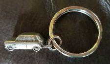 Classic Mini Cooper Austin Rover etc. Pewter Monopoly Style Key Ring Split Ring