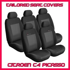 TAILORED SEAT COVERS  for Citroen C4  Picasso 2006 - 2013    FULL SET grey3
