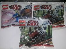 Lego 30004 Battle Droid on STAP and 30005 Imperial Speeder Bike X 2 packs