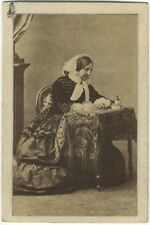 Photo Disdéri Carte de Visite Albuminé Femme Vers 1860