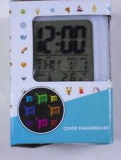 Top Trenz Color Changing Led Digital Alarm Clock 5 Light Colors Rainbow Color