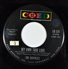 The Duprees - My Own True Love / Ginny - Coed Records