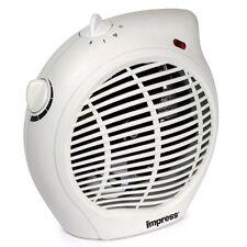 Impress Im-701 750W/1500W Dual Setting Fan Heater with Thermostat & Carry Handle