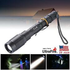 8000LM Black Ultrafire Zoomable CREE XML LED T6 5-mode torch Flashlight WR
