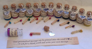 Personalised message in a bottle. Mothers day card alternative.