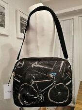100% Authentic Paul Smith Leather Trim Canvas Bike Messenger Folio Bag Bnwts