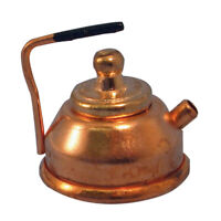 Dolls House Miniature 1/12th Scale Copper Kettle with Removable Lid D007