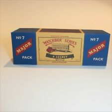 Matchbox Lesney Major Pack 7 Thames Trader Cattle Truck empty Repro C style Box