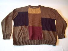 Vintage 80's Munsing Wear Crew Neck Cable Knit Sweater Men's Size L