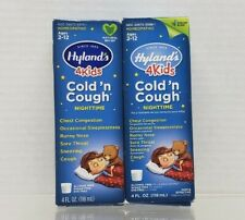 2-NIB Hylands 4Kids Nighttime Cold and Cough Homeopathic Natural 4 fl oz