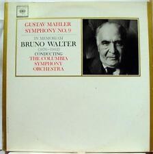 2 LP BRUNO WALTER mahler symphony no 9 VG M2L 276 CBS Mono 1962 USA