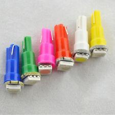 50pcs colorful T5 1SMD 5050 LED Bulb Wedge Gauge Cluster Light Instrument Panel