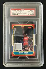 1986 Fleer Michael Jordan Rookie Game Used Jersey 2007 RCPJ Highest Graded PSA