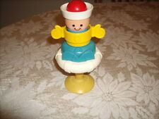 Vtg Fisher Price Suction High Chair Toy Sailor Squeaky Toy #415 1984 Quaker Oats