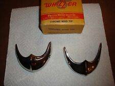 2 STAIINLESS STEEL FENDER TIPS FITS CLASSIC WHIZZER