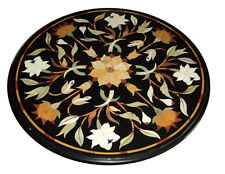 "24"" Marble Coffee Table Top Pietra  Dura Inlay Handicraft Work"