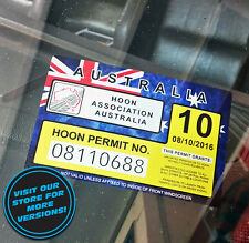 HOON Sticker - AUS JDM DEFECT VINYL FUNNY V8 TURBO PERMIT SKIDS BURNOUT POLICE