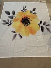Ambesonne Water Color Yellow Flower Shower Curtain with Plastic Rod Hooks Flower