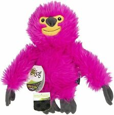goDog Fuzzy Pink Sloth Durable Plush Dog Toy Large 1 pack Tough
