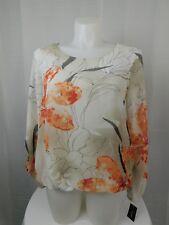 Alfani Plus Size Floral Print Angel Sleeve Blouson Top 3X Mystic Garden #6448