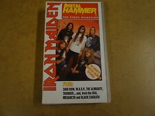 VHS VIDEO CASSETTE / METAL HAMMER  SPECIAL - IRON MAIDEN - THE VIDEO MAGAZINE