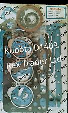 Kubota gasket kit D1403 engine, L2800 3 cylinder gasket and seals complete