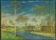 Postcard. Art/Painting. Spring Scenery. Oskar Bergman. Unused.