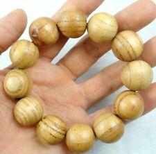 Unisex Chicken-Wing Wenge Wood Beads Tibet Buddhist Prayer Elastic Bracelet R3